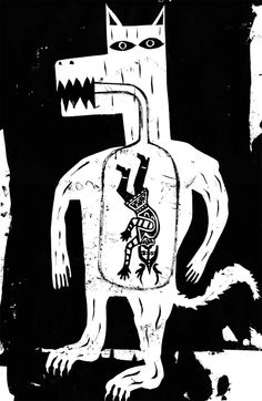 I have been working on creating images based around the Ragnarok. Here are my first few images. Pretty Drawings, Art Drawings, Graphic Illustration, Graphic Art, Ben Jones, Ben Shahn, Art Brut, Arte Popular, Indigenous Art