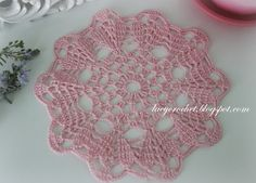 Lacy Crochet: Small Pink Doily, My Free Pattern