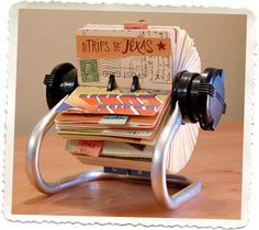 DIY Rolodex scrapbook~this would be cute as a coffee table conversational piece