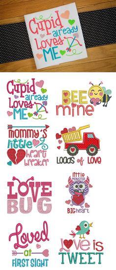 Valentine Word Art Set Designs By JuJu Machine Embroidery Store View Embroidery Store, Embroidery Monogram, Machine Embroidery Patterns, Embroidery Applique, Embroidery Ideas, Learn Embroidery, Valentine Words, Cute Valentines Day Gifts, Valentines For Kids