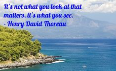Importance of perspective by Thoreau.
