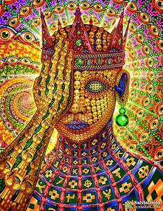Kyle Sawyer (aka SalviaDroid) is a visionary digital artist who portrays his psychedelic experiences in impressive detail. Alex Gray Art, Alex Grey, Art Visionnaire, Psychadelic Art, Psy Art, Mystique, Art Graphique, Visionary Art, Art Plastique