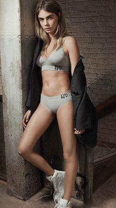 Cara Delevingne - DKNY Spring/Summer 2015 Intimates & Sleepwear.