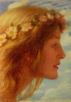⊰ Posing with Posies ⊱ paintings & illustrations of women & children with flowers - Day- Edward Robert Hughes