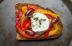 NYT Cooking: Roasted Pepper Tartine