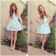 Seriously coveting Sarahbelle's dress. That's my all time favorite Lilly pattern