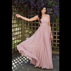 Such a flowy dress! This #franssical bridesmaid dress is perfect for any wedding. #theone #wedding #love #bride #weddinggown #weddingdress #engagement #engaged #beachwedding #beachweddingdress #bridesmaid #bridesmaiddress #simplyelegant #simplicityatitsbest #simpleisbest #simpledress #flatteringdress #2015bridalcollection #franssical2015collection