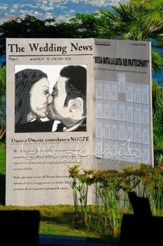 Originale tableau che narra le passioni degli sposi. Idee esclusive per un matrimonio da sogno by Cira Lombardo.
