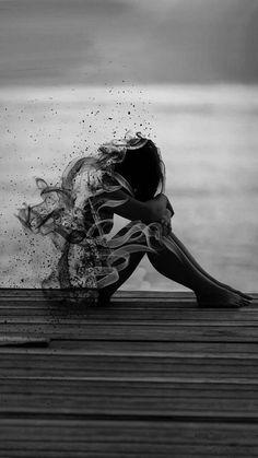 Black and white photography - Phone Wallpaper Dark Photography, Black And White Photography, Dark Art Drawings, Sad Art, Dark Fantasy Art, Art Sketchbook, Art Sketches, Art Girl, Amazing Art