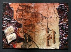 PanPastel Metallic Mixed Media Art with PanPastel, rubber stamps, metall foil and Glimmer Glaze created by Daniela Rogall