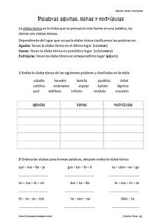 Fichas de lengua de tercero de primaria   Bilingual education, Dual ...
