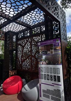 From the 2017 Melbourne International Flower and Garden Show at Carlton Gardens. QAQ Decorative Screens & Panels sponsored Water Features Direct and FMSA Architecture. Garden Show, Home And Garden, Carlton Gardens, Decorative Screen Panels, Melbourne House, Display Homes, Exhibition Space, Water Features, Garden Design