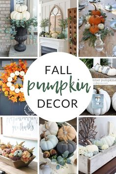 Come browse my favorite images for fall inspiration and ideas for decorating with pumpkins. Bring a touch of autumn into your home decor. Pumpkin Crafts, Fall Crafts, Diy And Crafts, Fall Home Decor, Autumn Home, Pumpkin Decorating, Fall Decorating, Christmas Decorations, Table Decorations