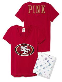 Victoria s Secret  San Francisco 49ers Bling Athletic Tee 49ers Fans d453f02cd