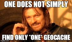 #RVing Once you find one geocache, you just seem to keep going... :)