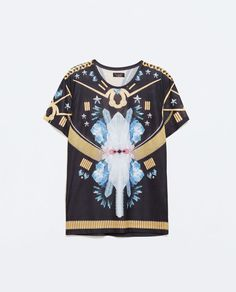ZARA - SALE - SUBLIMATED T-SHIRT WITH CRYSTALS