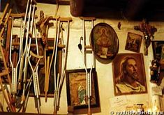 Sanctuario de Chimayo, NM  Crutches line the walls from people who have gone in…