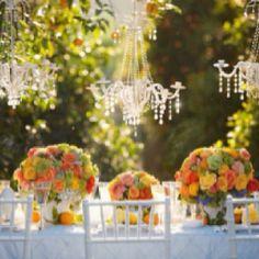 Vibrant and elegant table setting