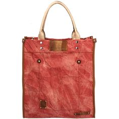 Casual NS Tote, Rust via Polyvore