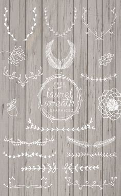 Free Laurel Wreath Graphics from designs by miss mandee.com