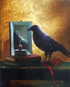 Janine Kilty  'Still Life With Crow', 2009 Oil Painting