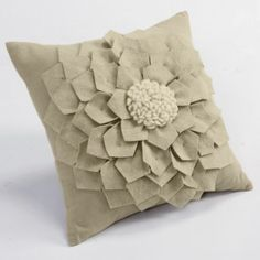 Peony pillow. Maybe use DIY Pillow instructions to make something like this?