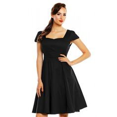 DOLLY AND DOTTY CLAUDIA FLIRTY FIFTIES STYLE DRESS IN BLACK - Love to Death