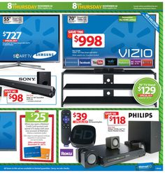 Walmart Black Friday 2013 Ad Page 17 Ad - #blackfriday #sales #deals #coupons #philips #vizio #tv #hdtv #plasma #led