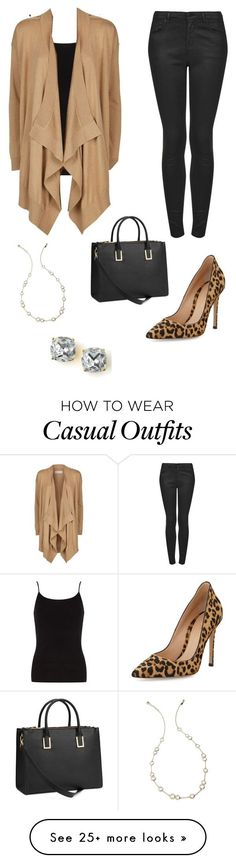 """Cascade sweater - Casual"" by brittjade on Polyvore featuring Topshop, Gianvito Rossi, Dorothy Perkins, MICHAEL Michael Kors, Kate Spade and H&M"
