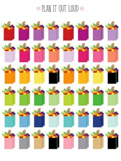 Grocery stickers (Erin Condren stickers)