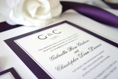 Shown in Plum & Black. Ribbon and Ink colors available in every color on the color chart! Purchase this listing and receive a sample set! We recommend purchasing a sample prior to ordering so that you