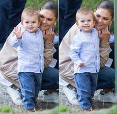 Crown Princess Victoria and son Prince Oscar