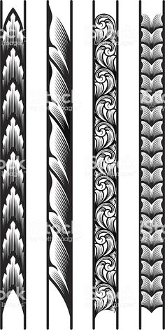 Designed by a hand engraver, these precisely drawn borders are constructed with each leaf or scroll segment on a seperate layer for easy manipulation. Make as long or short as you wish, and scale to. Band Tattoos, Body Art Tattoos, Sleeve Tattoos, Tattoo Bracelet, Armband Tattoo, Tattoo Maori, Thai Tattoo, Maori Tattoo Designs, Tribal Tattoos