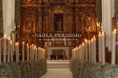 hermosa ceremonia en Cuernavaca , iglesia de la tercera orden (México)