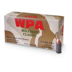 Wolf, 9mm Luger, FMJ, 115 Grain, 500 Rounds