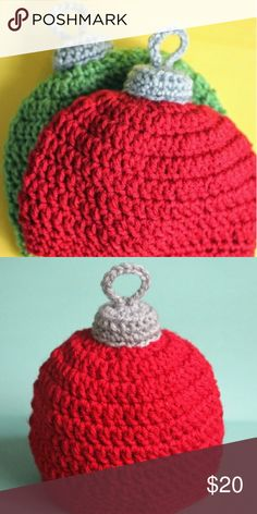 Christmas bulb hat ANY SIZE! Tell me what colors you want! Custom made for you! Give me about 2 weeks to make! Accessories Hats