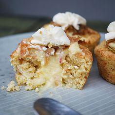 Eplecupcakes med vaniljekrem-fyll