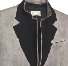 Illusion Lapel Jacket - creative sewing ideas; colourblock collar detail; deconstructed tailoring // Maison Martin Margiela
