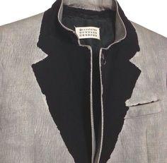 Illusion Lapel Jacket - creative sewing ideas; colourblock collar detail; deconstructed tailoring // Maison Martin Margiela