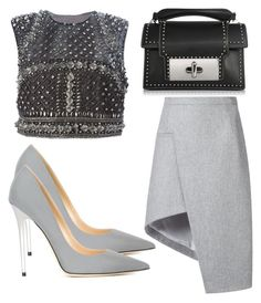 """""""Untitled #2638"""" by evalentina92 ❤ liked on Polyvore featuring Thierry Mugler, Alberta Ferretti, Marc Jacobs and Jimmy Choo"""