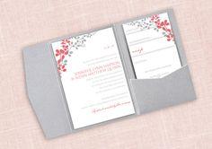 Pocket Wedding Invitation Template Set  by DiyWeddingTemplates