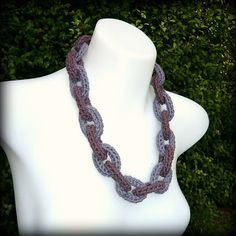 Shara Lambeth Designs: Crochet Chain Link Necklace Tutorial - FREE PATTERN - Cotton - Jewellery - Jewelry