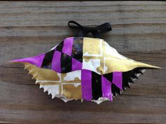 Crab Shell Ornament: Hand Painted Purple Maryland Flag by TheHolidayHonShop on Etsy https://www.etsy.com/listing/251472685/crab-shell-ornament-hand-painted-purple