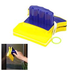 TrolaxTM New Magnetic Useful Doublesided Window Glass Cleaner Wiper Kitchen Bathroom Surface Brushes Scraper Brush Cleaning Tools
