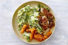 Hollandse andijviestamp met wortel en worstjes