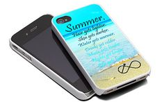 Summer Quote Infinity Anchor  Design For iPhone 4/4S Case and iPhone 5 Case