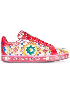 Shop Dolce & Gabbana Mambo print sneakers.