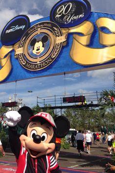 Mickey at the Finish Line of the Walt Disney World Marathon! @Alexis Swedlund #wdwmarathon Run Disney