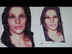 ▶ Brother PE Design Next Demo(1/4) From JPEG photo of my wife. - YouTube