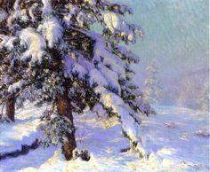 Walter Launt Palmer (American painter, 1854-1932) Snow Laden